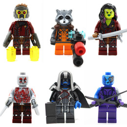 Star Lord Building Block Puzzle Minifig Gamora Nebula Rocket Racoon Drax the Destroyer Yondu Toys Mini Figure Toys Guardians of the Galaxy 2