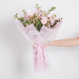 Clear Flower Wrapping Paper Cellophane Korean Florist Bouquet Supplies Gift Packaging Material DIY Supplies 20 Sheets 60*60cm haif