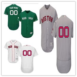 custom Men's women youth Majestic Red Sox Jersey #00 Any Your name and your number Home Red Nary Blue Grey White Kids Girls Baseball Jerseys