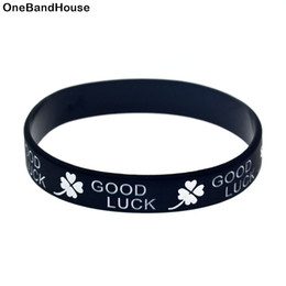 100PCS Lot Good Luck with Clover Leaf Silicone Wristband Bracelet Perfect to Use in Any Benefits Gift
