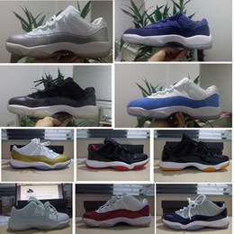 Blue Moon 11 low Men basketball shoes sneakers Bred White gold Varsity Red 11s Sports Shoes Leather Outdoors Athletic Shoes navy trainers