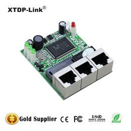 shenzhen manufacturer company direct sell Realtek chip RTL8306E mini 10 100mbps rj45 lan hub 3 port ethernet switch pcb board