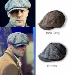 Wholesale Adult Popular Men's Fashion Octagonal cap Newsboy Baker Boy Hat Peaky Blinders Newsboy Gatsby Country Herringbone Flat Cap