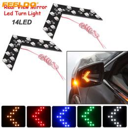 FEELDO 40PCS Auto Car LED Arrow Lights 14-smd Side Mirror Rear Turn Indicator LED Light 5 Colors for Choice #3108