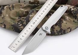 CH3507 original design Flipper folding knife M390 Blade ball bearings TC4 Titanium handle camping fruit pocket knives EDC tools