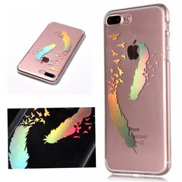 Laser colorful Transparent Soft Tpu Cases for iPhone X 6 7 8 Samsung Galaxy S9 S8 Note Back Cover Phone cases Bear Flowers Windbell Leather