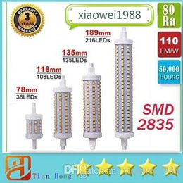 Dimmable DHL SHIP R7S LED lighting 7W 14W 20W 25W 85-265V 78mm 118mm 135mm 189mm LED R7S Light Bulbs SMD2835 Replace Halogen Lamps