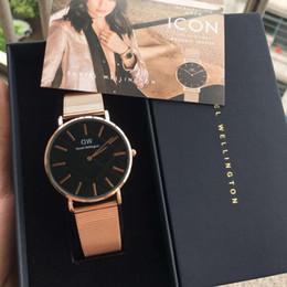 New Brand Watches Men's 40mm and 36mm Silver Stainless Steel Bracelet Silver Luxury Brand Daniel Quartz Watch Men's Fashion montre femme