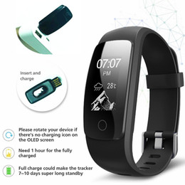 Hot ID107 HR Plus GPS Smart Bracelet Heart Rate Monitor Pedometer Fitbit Bluetooth Fitness Sports Tracker Wristband For IOS Android Phone