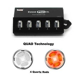 100% High Quality Yocan Evolve Plus XL Wax Vaporizer Starter Kit Quad Quartz Coil Head Replacement Clone DHL Free Shipping