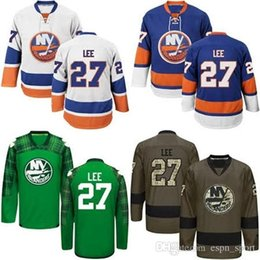 Hot Sale Mens New York Islanders 27 Anders Lee Best Quality Cheap 100% Embroidery Logos Ice Hockey Jerseys Accept Mix Order Size S-3XL