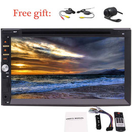 Free Wireless rear view Camera for parking + 7 Inch Double din 2Din car dvd cd player In-Dash Touch Screen Car radio Stereo Receiver