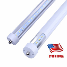 45W 8ft FA8 Single pin T8 LED Tube Light replace fluorescent bulbs SMD2835 AC110V-277V FCC DLC UL 25pcs lot
