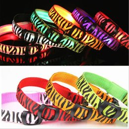 New Special Offer Chien 2018 Newest Led Light Pet Dog Collars Zebra Adjustable High Quality Flashing 7colors S M L Xl Freeshipping