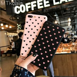 MTkoala Small Fresh Love Mobile Phone Case For iphone X 6 6S 7 8 Plus PC Matte Feel Hard Shell Women's Cover