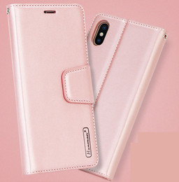 Hanman Wallet PU Flip Leather Stand Case For iphone 11 Pro Max XS Max XR 8 7 6S Plus Samsung S7 S8 S9 S10e Plus Note 10 Pro Retail box