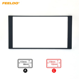 FEELDO Car Radio Stereo 2DIN Fascia Panel Refitting Frame Facia Trim Install Mount Kit For TOYOTA Camry PREVIA VIOS COROLLA #2295