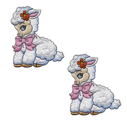 Beautiful and lovely cartoon 12Pcs sheep embroidery iron patch animal decals clothing accessories cloth folder,customizable