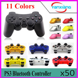 50pcs High quality Wireless Bluetooth Controller for Sony Playstation 3 PS3 A variety of color choices ZY-PS-03