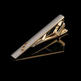 2 colors New Gold Blue Crystal Men's Tie Clip Business Diamond Shirt Tie Pins Suit Tie Clip