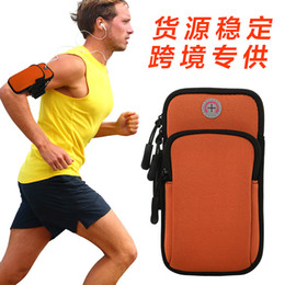 Multifunctional Outdoor New Neoprene Mobile Phone Arm Bag Double Pocket Compartment Design Running Arm Wrist Bag