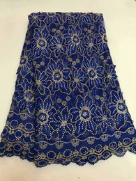 5 yards pc New African French Tulle Net Lace stones Fabric Fashion Nigerian Wedding African Lace Fabrics For Dress