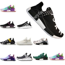 new Human Race Factory Real Yellow Red Black Orange Men Pharrell Williams X Human Race Running Shoes Sneakers size 36-47