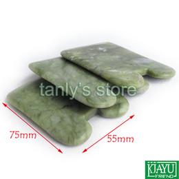 Free shipping! Good quality! Natural Glaze Jade Massage Tool Guasha Beauty Board (square shape) 3pieces lot