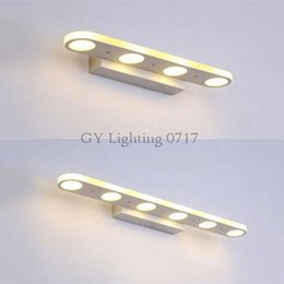 Novelty lighting White Housing LED front mirror light Metal bathroom cabinet dressing table kitchen lamps 4 or 6 circle holes