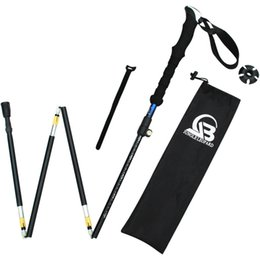New Folding Trekking Pole Ultra-light Adjustable Folding Travel Hiking Nordic Walking Trekking Pole