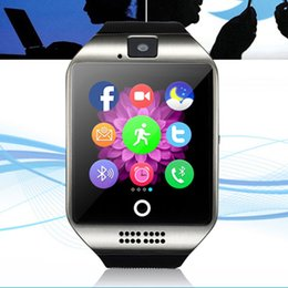 Bluetooth Smart watches Q18 Passometer Sport Anti-lost with Touch Screen Camera Sleep Monitor For Apple Android Samsung Phone Fitness Tracke