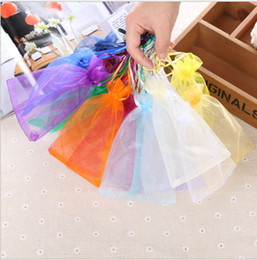 Organza Gift Drawstring Bag 7x9cm 9x12cm 12x17cm 15x20cm 20x30cm Glasses makeup Jewelry Packaging Pouch Candy Favor Sack