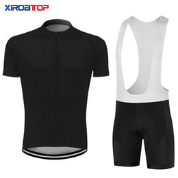 New hot sale Whole black Cycling Jersey Bib Shorts Set Mountain Bike Clothing MTB Bicycle Clothes Wear Maillot Ropa Ciclismo Cycling Set