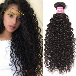 Nadula Peruvian Kinky Curly Human Hair 4 Bundles Virgin Human Hair Extensions Curly Remy Human Hair Weave Bundles Wholesale Cheap Bulk