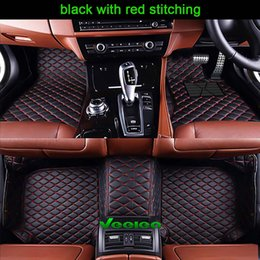 Right Hand Drive 6 Colors Leather Car Floor Mats for All Car 5 Seats All Weather Waterproof Anti-slip 3D Car Mats Carpets