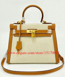 brand new real leather women hand bag high quality canvas bag for lady 118