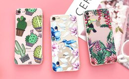 Silicone Case For iPhone 7 7Plus 6 6S 6Plus 5 5S SE Case Soft TPU Cover Flower Leaves Bird For iPhone 6S 8Plus X free shipping 2018 new hot