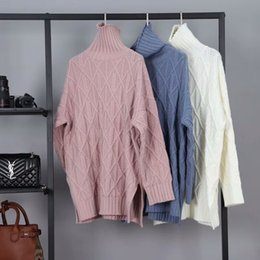 Autumn and winter latest long section of the high-necked pullover pure wool knit large size flexible student-style street casual lazy ladie