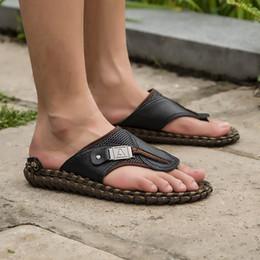 Hot new stripe men's slippers home slippers summer beach slippers sandals men's large size flip-flops 38-48