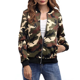 new fashion camouflage jacket spring and autumn winter jacket blouses in the European and American style comfortable