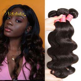 Nadula Brazilian Virgin Hair 3 Bundles Body Wave Human Hair Extensions Brazilian Human Hair Bundles Remy Human Weave Wholesale Cheap Bulk