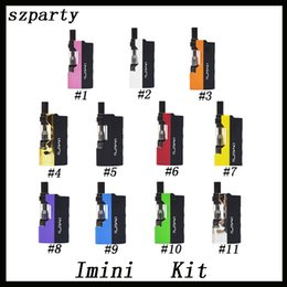 Original Imini vape Cartridges Starter Kit with Liberty V1 Cartridges 500mAh Vape Preheat VV Mod Fit Liberty V9 Th205 MT6 G5 Free Shipping