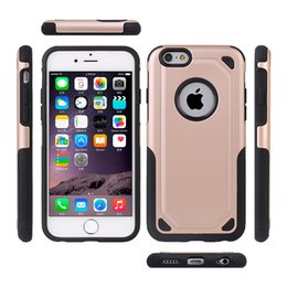 2 in 1 TPU+PC Hybrid Combo Case for iphone 5s se 6 6s 7 8 Plus X Hard Back Cover Shockproof Shell