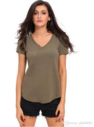 PT100 t shirt women v-neck camouflage blouse sexy pure colour plus size