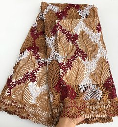 5 yards neat embroidery African cord lace Guipure lace Nigeria sewing fabric high quality 6187