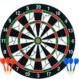 Soft board Dart board Puzzle toy small gift 12 17 inch flocking darts target flocking darts with Staple-Free Bulls eye