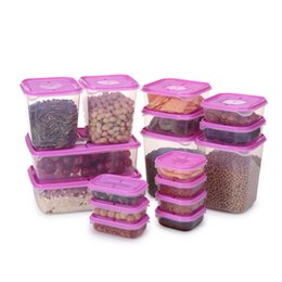 Food storage box 17pcs set sealed crisper refrigerator preservation plastic storage container food saver cans airtight