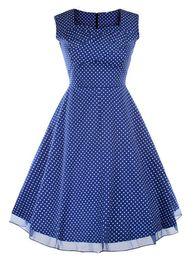 New Women Summer Sleeveless Simple Stitching Dress Fashion Plus Size Vintage Dress