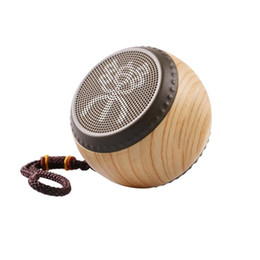 Luxury Bluetooth Speakers Portable Wireless Creative Drum Wood Grain Boombox Subwoofer, Hands-free Speakers Stereo Music Box Chinese Style