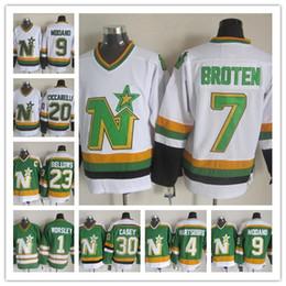 20# Cheap Minnesota North Stars Neal Broten Mike Modano Dino Ciccarelli Brian Bellows Gump Worsley 30 JON CASEY PARISE hockey jerseys